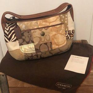 Coach Patchwork Animal Print Handbag